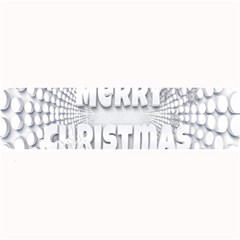 Oints Circle Christmas Merry Large Bar Mats