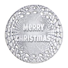 Oints Circle Christmas Merry Ornament (round Filigree)