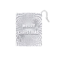 Oints Circle Christmas Merry Drawstring Pouches (small)  by Nexatart