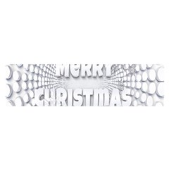 Oints Circle Christmas Merry Satin Scarf (oblong)