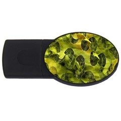 Olive Seamless Camouflage Pattern Usb Flash Drive Oval (4 Gb) by Nexatart