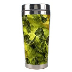 Olive Seamless Camouflage Pattern Stainless Steel Travel Tumblers by Nexatart