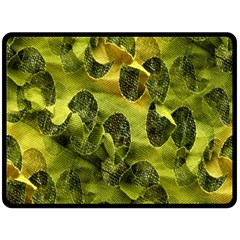 Olive Seamless Camouflage Pattern Double Sided Fleece Blanket (large)
