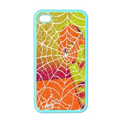 Orange Guy Spider Web Apple Iphone 4 Case (color) by Nexatart