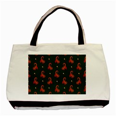 Paisley Pattern Basic Tote Bag (two Sides)