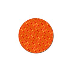 Orange Pattern Background Golf Ball Marker (10 Pack)