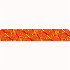 Orange Pattern Background Small Bar Mats by Nexatart