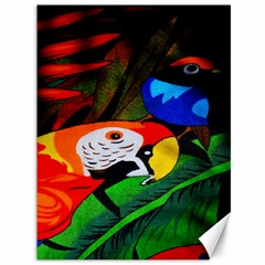 Papgei Red Bird Animal World Towel Canvas 36  X 48