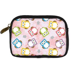 Owl Bird Cute Pattern Digital Camera Cases by Nexatart