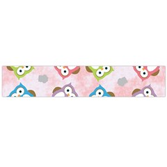 Owl Bird Cute Pattern Flano Scarf (large) by Nexatart