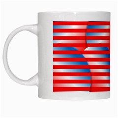 Patriotic  White Mugs