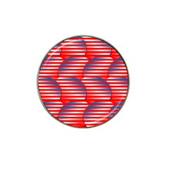 Patriotic  Hat Clip Ball Marker (10 Pack) by Nexatart