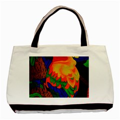 Parakeet Colorful Bird Animal Basic Tote Bag (two Sides)