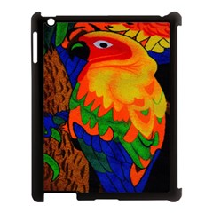 Parakeet Colorful Bird Animal Apple Ipad 3/4 Case (black)