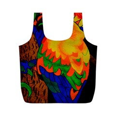 Parakeet Colorful Bird Animal Full Print Recycle Bags (m)  by Nexatart