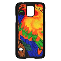 Parakeet Colorful Bird Animal Samsung Galaxy S5 Case (black) by Nexatart