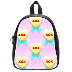 Pastel Heart School Bags (small)