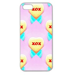 Pastel Heart Apple Seamless Iphone 5 Case (clear) by Nexatart