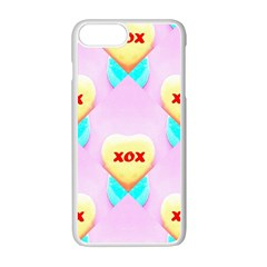 Pastel Heart Apple Iphone 7 Plus White Seamless Case by Nexatart
