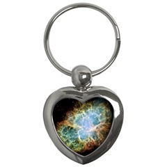 Crab Nebula Key Chains (heart)  by SheGetsCreative