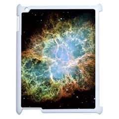 Crab Nebula Apple Ipad 2 Case (white) by SheGetsCreative