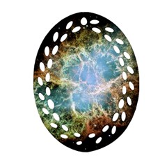 Crab Nebula Oval Filigree Ornament (two Sides) by SheGetsCreative
