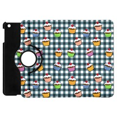 Cupcakes Plaid Pattern Apple Ipad Mini Flip 360 Case