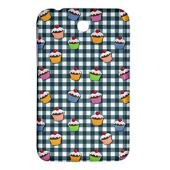 Cupcakes Plaid Pattern Samsung Galaxy Tab 3 (7 ) P3200 Hardshell Case  by Valentinaart