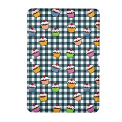 Cupcakes Plaid Pattern Samsung Galaxy Tab 2 (10 1 ) P5100 Hardshell Case  by Valentinaart