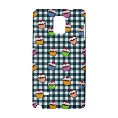 Cupcakes Plaid Pattern Samsung Galaxy Note 4 Hardshell Case by Valentinaart
