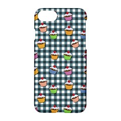 Cupcakes Plaid Pattern Apple Iphone 7 Hardshell Case by Valentinaart