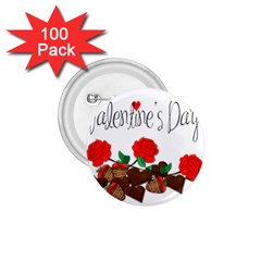 Valentine s Day Gift 1 75  Buttons (100 Pack)  by Valentinaart