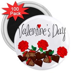Valentine s Day Gift 3  Magnets (100 Pack) by Valentinaart