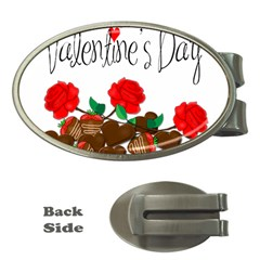 Valentine s Day Gift Money Clips (oval)  by Valentinaart