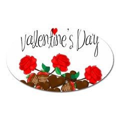Valentine s Day Gift Oval Magnet by Valentinaart