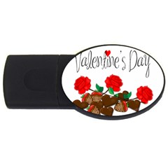 Valentine s Day Gift Usb Flash Drive Oval (4 Gb)