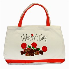 Valentine s Day Gift Classic Tote Bag (red) by Valentinaart