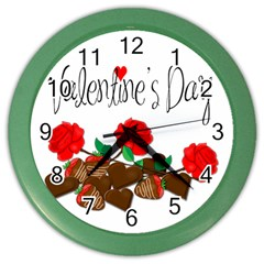 Valentine s Day Gift Color Wall Clocks by Valentinaart