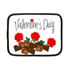 Valentine s Day Gift Netbook Case (small)  by Valentinaart