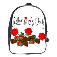 Valentine s Day Gift School Bags(large)  by Valentinaart