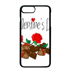 Valentine s Day Gift Apple Iphone 7 Plus Seamless Case (black) by Valentinaart