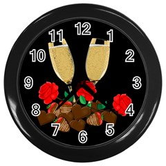 Valentine s Day Design Wall Clocks (black) by Valentinaart