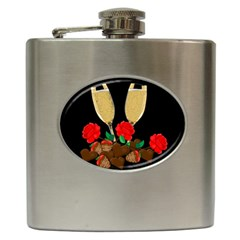 Valentine s Day Design Hip Flask (6 Oz) by Valentinaart