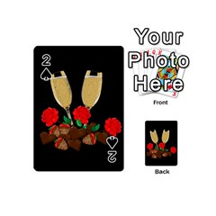 Valentine s Day Design Playing Cards 54 (mini)  by Valentinaart