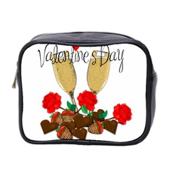 Valentine s Day Romantic Design Mini Toiletries Bag 2 Side by Valentinaart