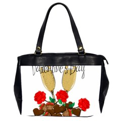 Valentine s Day Romantic Design Office Handbags (2 Sides)  by Valentinaart