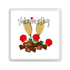 Valentine s Day Romantic Design Memory Card Reader (square)  by Valentinaart