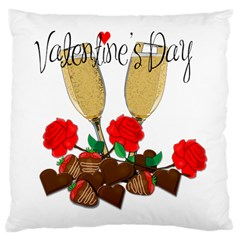 Valentine s Day Romantic Design Large Cushion Case (one Side)