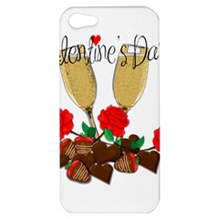 Valentine s Day Romantic Design Apple Iphone 5 Hardshell Case by Valentinaart