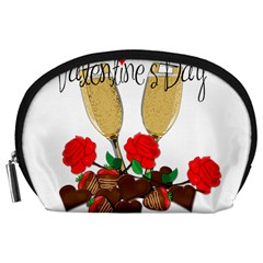Valentine s Day Romantic Design Accessory Pouches (large)  by Valentinaart